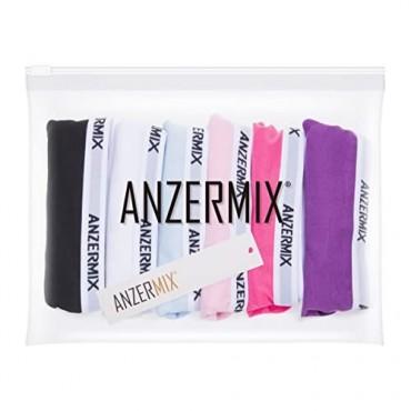 ANZERMIX Women's Breathable Comfort Cotton Bikini Panties Pack of 6