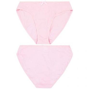 Curve Muse Womens 100% Cotton Bikini Briefs Mid Waist Underwear Panties-6 Pack