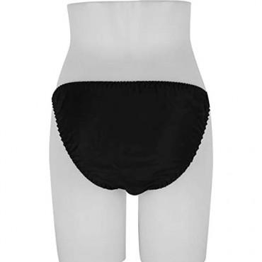 iEFiEL Women's Pure Color Silk Panties Soft Smooth String Bikini Briefs Beach Underwear