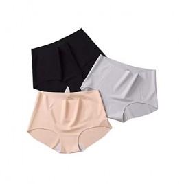 J.520 Women Underwear Seamless Mid Waist Full Coverage Panties Multi-Pack