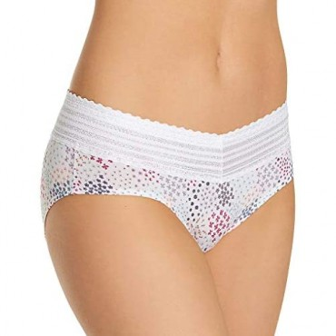 Warner's Women's No Pinching. No Problems. Hipster with Lace 5609J XL White Multi Garden