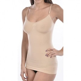 Body Beautiful Women's Seamless Shaping Camisole with Lace Trim for an Extra Feminine Feel in New Shiny Yarn.