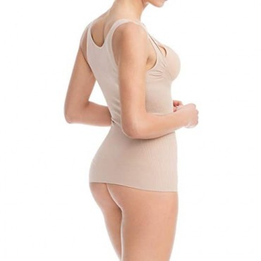 Farmacell Shape 606 Shaping Control Open-Bust Vest with Flat Belly Effect 100% Made in Italy