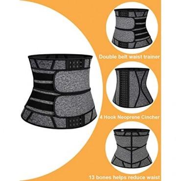 MANIFIQUE Waist Trainer Belt for Women Saunna Sweat Belt Waist Cincher Trimmer