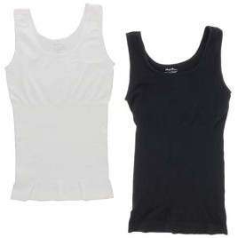 Marilyn Monroe Intimates Seamless Body Shaping Cami Wide Strap Tank Top (2Pc)