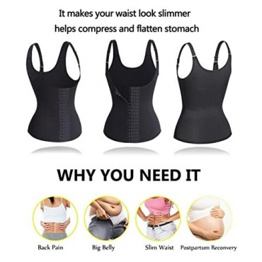 Eleady Waist Trainer Cincher Underbust Corset for Weight Loss Sport Workout Body Shaper with Adjustable Straps