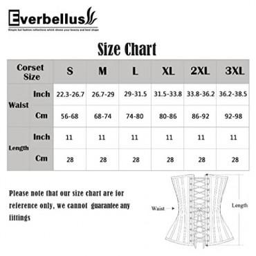 Everbellus Women's Breathable Elastic Corset Waist Trainer Cincher Belt Shapewear