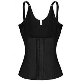 Gary Com Women Underbust Corset Adjustable Straps Waist Trainer Cincher Steel Boned Body Shaper Tummy Fat Burner