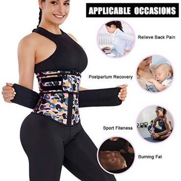 Wonder-beauty Waist Trainer for Women Hourglass Body Shaper with Adjustable Straps