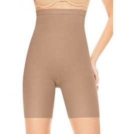 ASSETS Red Hot Label by SPANX Firm Control High-Waist Mid-Thigh Shaper  4  Barest Bare