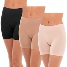 F.I.T. by René Rofé Under Dress Chafing Underwear Bike Gym Yoga Leggings 3 Pack