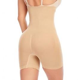 High Waist Shapewear for Women - Tummy Control Body Shaper Panty Thigh Slimmer Short Panty for Women