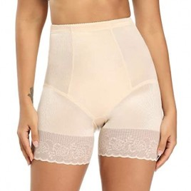 Lace Shapewear Shorts for Women Tummy Control High Waist Shorts for Under Dresses