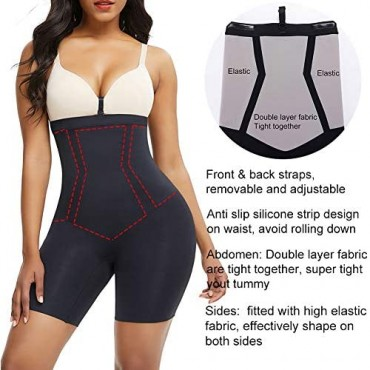 Shapewear Body Shaper for Women High Compression Tummy Control Thigh Slimmer Control Panty Seamless Plus Size Shaper