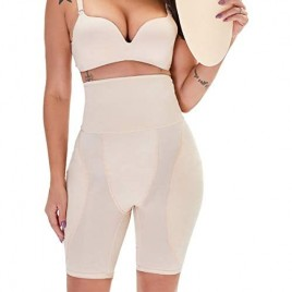 TOPMELON Women's Shapewear Firm Control Seamless Padded Thigh Slimmer Panties