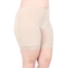Undersummers Fusion Shortlettes Short Length: Anti-Chafing Slipshorts with Leg Lace