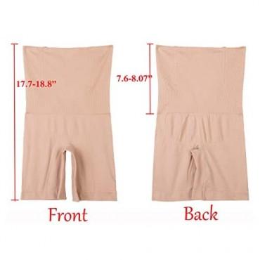 Women's High Waist Control Panties Seamless Shapewear Thigh Slimmer Boyshort Breathable Slip Shaper