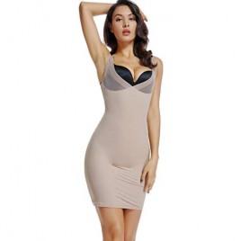 Joyshaper Women's Full Slips for Under Dresses Slimming Compression Slip Wedding Dress Shapewear V Neck Slip Undergarment