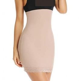 Shapewear Dress Slip for Under Dresses Half Slip Tummy Control Seamless Slimming Slip Body Shaper with Lace