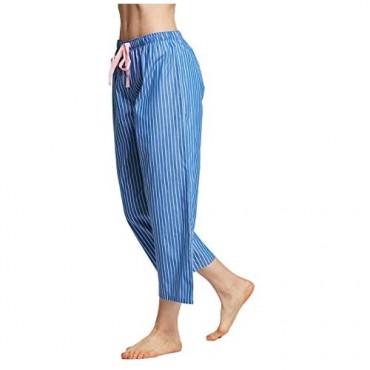CYZ Women's 100% Cotton Woven Pajama Capri