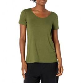 Brand - Mae Women's Loungewear Scoop Neck Short Sleeve T-Shirt