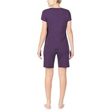 Nautica Women's V-Neck Sleep Top 100% Cotton Jersey