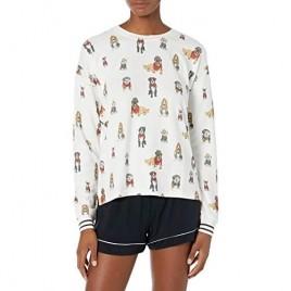 PJ Salvage Women's Loungewear Hipster Hounds Long Sleeve Top