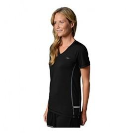 SHEEX Women's Short Sleeve Tee with Enhanced Breathability Black Large