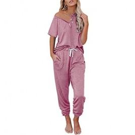 AUTOMET Womens Loungewear Sets 2 Piece Lounge Sets for Women Sweatsuits Pajamas Sets with Jogger Sweatpants Sets
