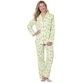 PajamaGram Button Up Pajamas for Women - Women's PJs Sets