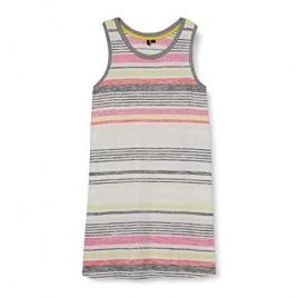 kensie Women's Plus Size Multi Stripe Tank Sleep Dress