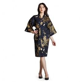 Japanese Kimono Robe for Women 100% Cotton Robe Short Nightgown
