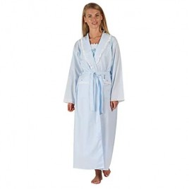 The 1 for U Womens Robe Housecoat 100% Cotton Abigail