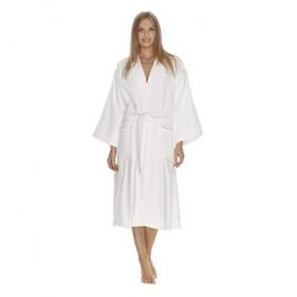 Womens Terry Cloth Bathrobe by Boca Terry  Cotton Spa Robes  Plush White Hotel Bath Robe  M/L & 2X