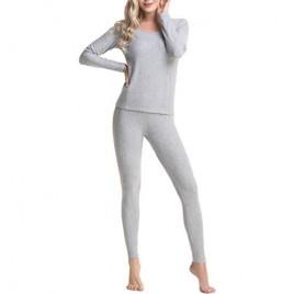 Aifer Women's Crewneck Thermal Underwear Long Johns Set Base Layer Top & Bottom Fleece Lined