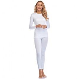 Malist Women's Thermal Underwear Ultra Soft Long Johns Top with Fleece Lined Set