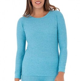 Fruit of the Loom Women's Waffle Thermal Crew Top
