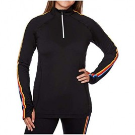 Hot Chillys Women's Micro-Elite Chamois Retro Zip-T Midweight Body Fit Base Layer