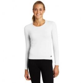 Hot Chillys Women's MTF4000 Jewel Neck Top (White X-Small)