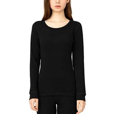 LAPASA Women's 250g 100% Merino Wool Base Layer Top Long Sleeve Thermal Underwear L48