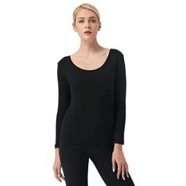 Liang Rou Women's Ultra Soft Fleece Lined Long Sleeve Thermal Top