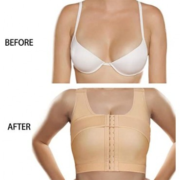 BRABIC Women's Front Closure Bra Post-Surgery Posture Corrector Shaper Tops with Breast Support Band