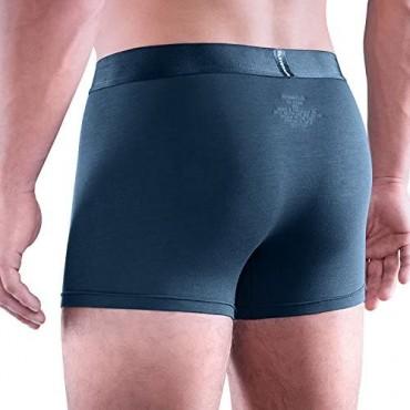 Clevedaur Men's Underwear 3 Pack Lenzing MicroModal Trunks Underwear for Men
