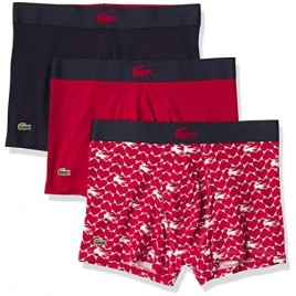 Lacoste Men's 3-Pack Casual Cotton Stretch Valentine's Day Pack Trunks