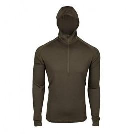 7EVEN Clothing CO Mens 100% Lightweight Merino Wool Hooded Long Sleeve Shirt 190 GSM