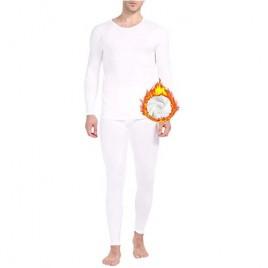 Mens Thermal Underwear Fleece Lined Basic Long John Set Ultra Soft