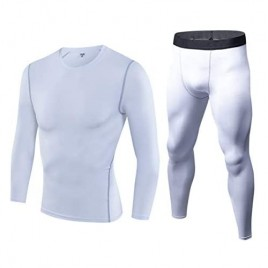 Men's Ultra Soft Thermal Underwear Long Johns Set Compression Top and Bottom