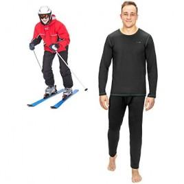 Thermal Underwear for Men (Thermal Long Johns) Sleeve Shirt & Pants Set  Base Layer w/Leggings Bottoms Ski/Extreme Cold