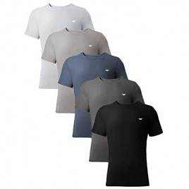 AMERICAN HEAVEN Men's Crew Neck T-Shirts | Heavenly Soft Cotton Rayon Stretch Athletic T - 5 Pack
