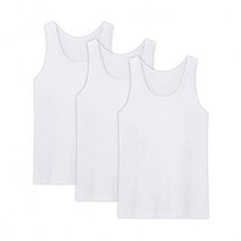 AORGSVI Men's Tank Tops Undershirts 3-Pack  Crew Neck Modal Comfort Soft Multipack A-Shirt